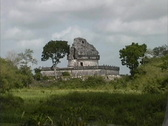 Stock Video Footage of Observatory Chichen Itza