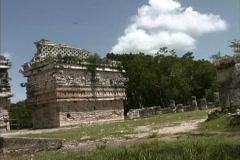 Puuc style temple Chichen Itza Yucatan Stock Footage