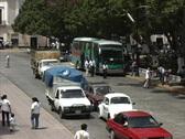 Traffic Merida plaza Stock Footage