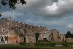 Valladolid convent Yucatan Stock Footage