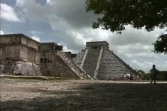 Yucatan View of Chichen Itza - stock footage