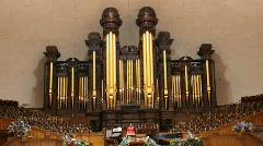Mormon Tabernacle inside P HD 0691 Stock Footage
