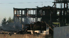 Fire Aftermath 1 Stock Footage