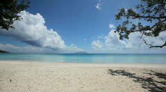 Tropical beach with beautiful clouds Stock Footage