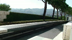 Getty Center Tram Arrival Stock Footage