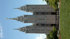 LDS Temple verticle P HD 0697 Stock Footage