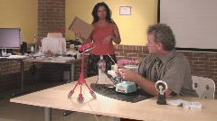Fraternization at the workplace - 7 Stock Footage