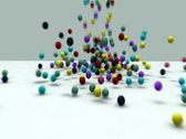 3d animation - falling colorful balls Stock Footage