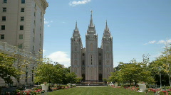 Salt Lake City LDS Temple P HD 0699 Stock Footage