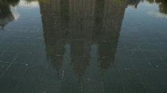 Salt Lake City LDS Temple reflect tilt up P HD 0710 Stock Footage