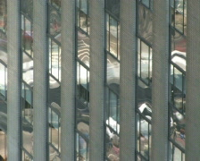 Windows Reflect City Time Lapse PAL - stock footage