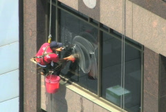 Window Washer NTSC - stock footage