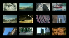 Business, Science, Leasure, Buildings Montage Series Stock Footage