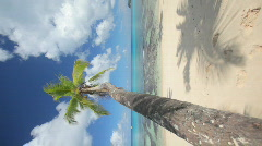 Perfect beach vertical Stock Footage