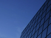 Timelapse Sunrise reflected in Office Building Stock Footage