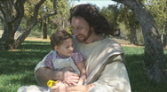 Stock Video Footage of Jesus & Child 3