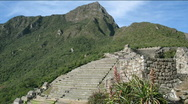 Stock Video Footage of Machu Picchu city time lapse
