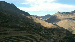 Pisac ruins time lapse Stock Footage