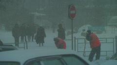winter in siberia, russia - stock footage