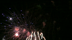 Large amount of Fireworks going off in Sky Stock Footage