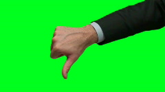 Businessman thumbs down green screen HD  Stock Footage
