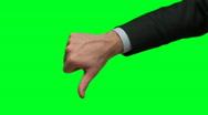 Businessman thumbs down green screen HD  Stock Footage