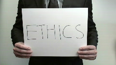 Terms ETHICS - HD  Stock Footage