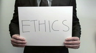 Stock Video Footage of Terms ETHICS - HD