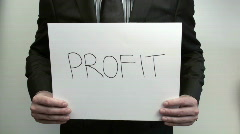 Terms PROFIT - HD  - stock footage