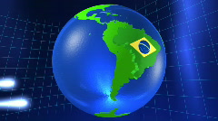 3dworld brazil Stock Footage