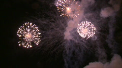 Slow motion Fireworks Stock Footage