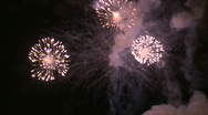 Stock Video Footage of slow motion Fireworks