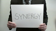 Stock Video Footage of Terms SYNERGY PROFIT - HD