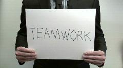 Terms TEAMWORK SUCCESS - HD  Stock Footage