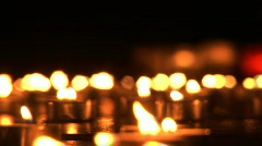Candels burning 2 Stock Footage