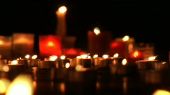 Candels burning 3 Stock Footage