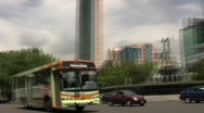 Stock Video Footage of Angel Fountain, Bus, Mexico City