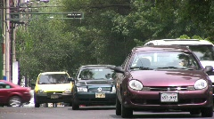 Mexico City Traffic and Taxis Stock Footage