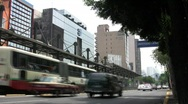 Stock Video Footage of Mexico City Metro Bus Stop