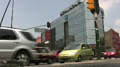 Busy Mexico City Street Stock Footage