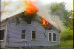 House fire 3 Stock Footage