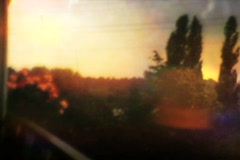 Furious Sky on fire Looped - Vintage Super8 Film - stock footage