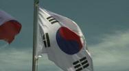 Korean Flag slow motion Stock Footage