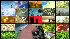 Environmental concept screens - HD  Stock Footage