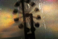 Roundabout Wind Mill Processed - Vintage Super8 Film - stock footage