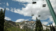 Summer resort chair lift P HD 0794 Stock Footage