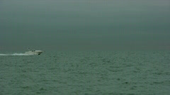 Chicago speedboat Stock Footage