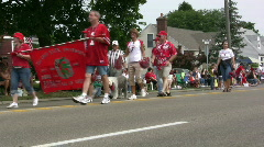 Ohio State University float in parade Stock Footage