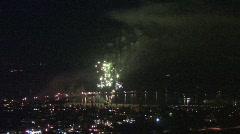 Fantastic Fireworks (SB Harbor) 720 - stock footage