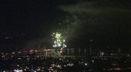 Fantastic Fireworks (SB Harbor) 720 Stock Footage